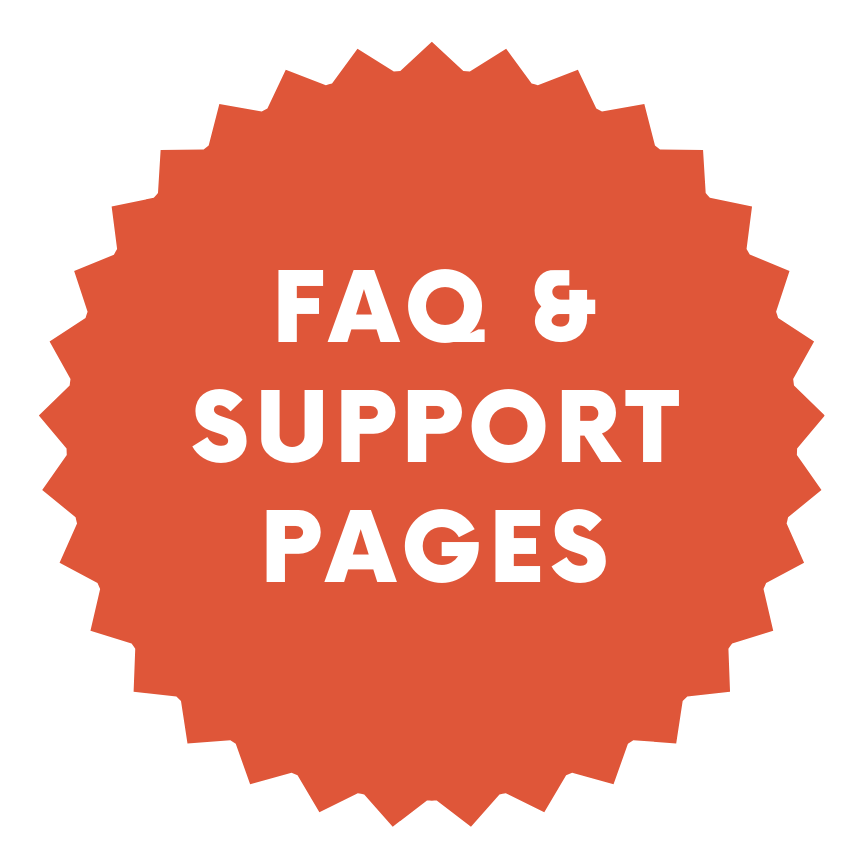 FAQ and Support Pages